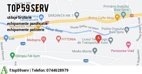 Harta SC TOP 59 SERV SRL - utilaje brutarie, echipamente panificatie