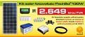 Kit (sistem) solar fotovoltaic ITechSol® 130W pentru ilumin