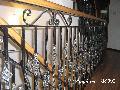 Scari fier forjat cu mana curenta din lemn