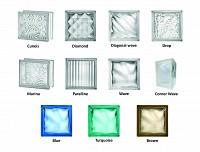 Caramizi sticla transparente si colorate