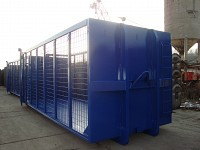 Container abroll cu pereti din plasa