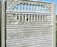 Gard beton armat - imitatie de caramida