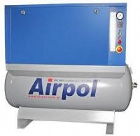 Compresoare de aer oil free cu spirala, montate pe recipient