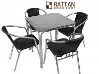 Masa cu scaune pentru terasa ALUMIA