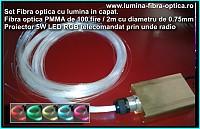 Set Proiector cu fibra optica pentru Tavan cer Instelat100-2