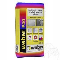 Adeziv pentru sisteme de izolatie termica - Weber P40 max� -