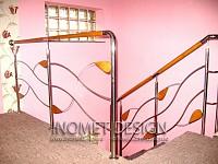 Balustrade inox cu insertie de lemn