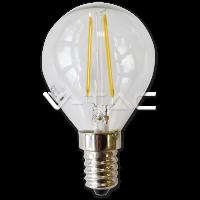 Bec LED – 2W Filament E14 P45 Alb Cald