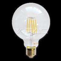 Bec LED – 6W filament E27 G95 Alb cald