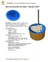 ciubar - Hot tub din fibra de sticla KORIKS 1300L