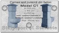 Cismea apa curenta din beton model C1