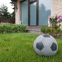 Decor Gradina Granit Padang Dark - Minge Fotbal 25cm