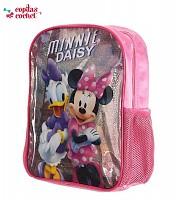 Ghiozdanel Minnie Mouse cu sclipici