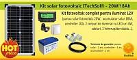 Kit (sistem) solar fotovoltaic ITechSol® 20W pentru ilumina