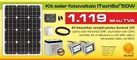 Kit (sistem) solar fotovoltaic ITechSol® 50W pentru ilumina
