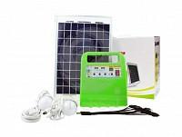 Kit solar fotovoltaic complet, cu 2 becuri LED, FM Radio + M