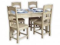 Masa cu scaune din lemn masiv - Scaune din lemn