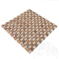 Mozaic Travertin Classic-Noce-Yellow Sugar Antichizat