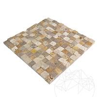 Mozaic Travertin Mix (Noce/Classic/Yellow) Scapitat 2.3x2.3c