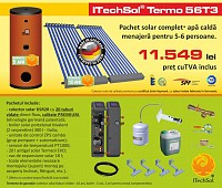 Pachet solar (kit) complet apa calda menajera pentru 5-6 per