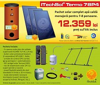Pachet solar (kit) complet apa calda menajera pentru 7-8 per