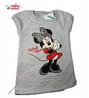 Rochie bebe cu Minnie Mouse (gri / fucsia)