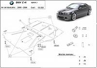 Scut motor metalic BMW Seria 3 E46 2000-2004
