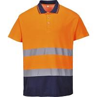 Tricou Polo Confort Bicolor din Bumbac