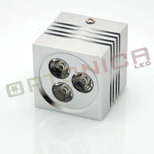3W Aplica LED patrata lumina alba