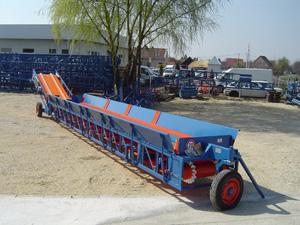 Banda transportoare descarcare cereale din camion