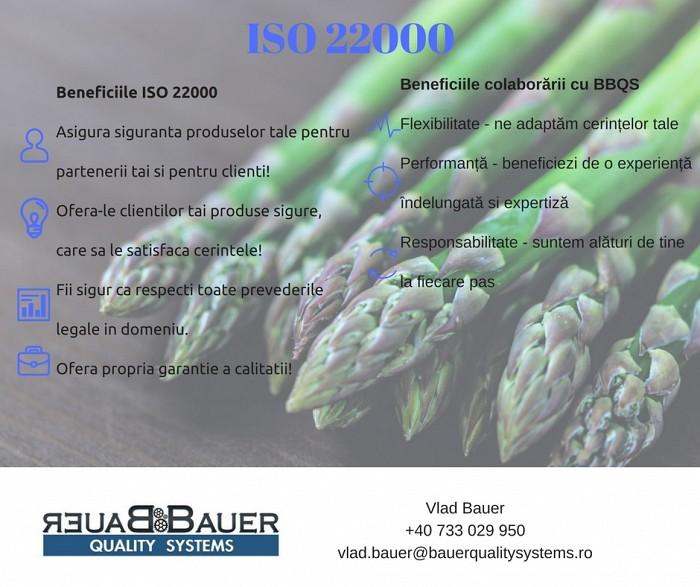Certificare conform ISO 22000:2005
