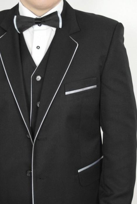 Costum barbati cu vesta cu paspol saten