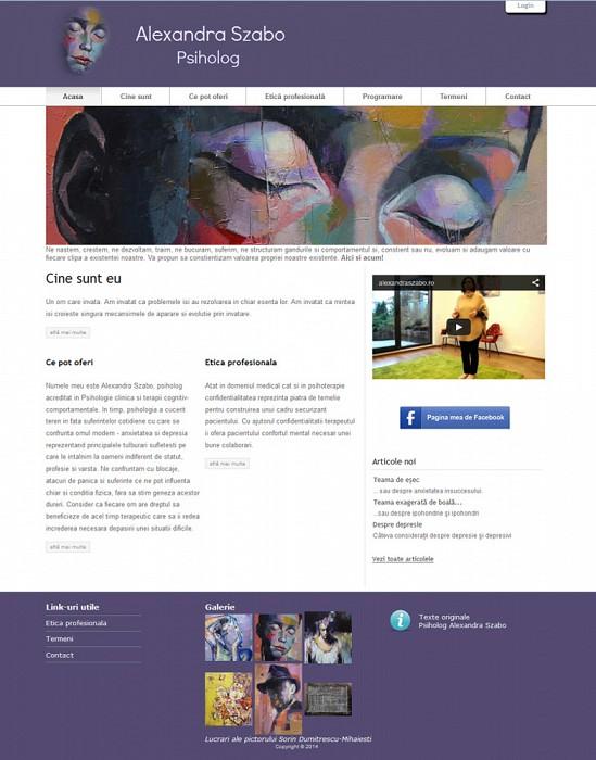 Creare website prezentare