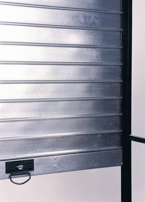 Grilaj metalic de protectie cu lamele pline