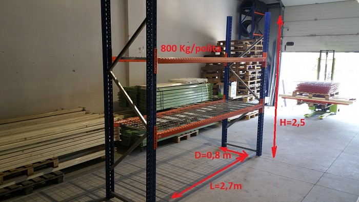 Rafturi metalice cu polite zincate