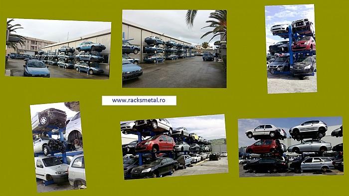 Rafturi metalice pentru autoturisme