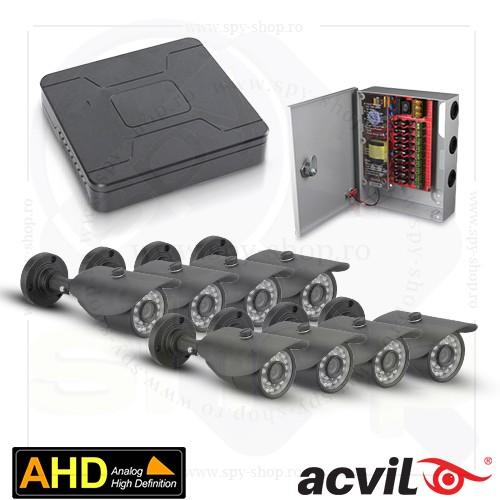 Sistem Supraveghere Exterior Ahd Cu 8 Camere Video Acvil Ext Timisoara