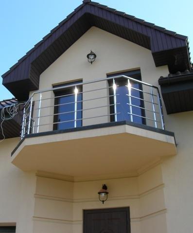 Balcon inox cu picior drept