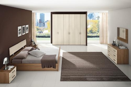 Mobilier dormitor moderna Olmo alb si Noce soul - Target M02