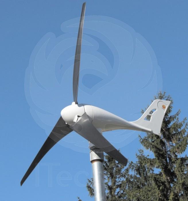 Generator eolian (turbina) A-400W 12V cu regulator de incarc