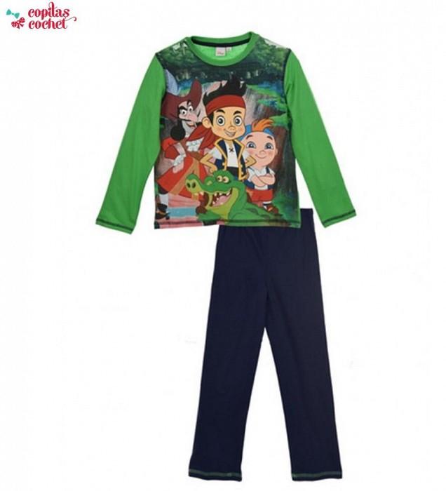 Pijamale copii 6 ANI cu Jack si Piratii din Tara de Nicaieri