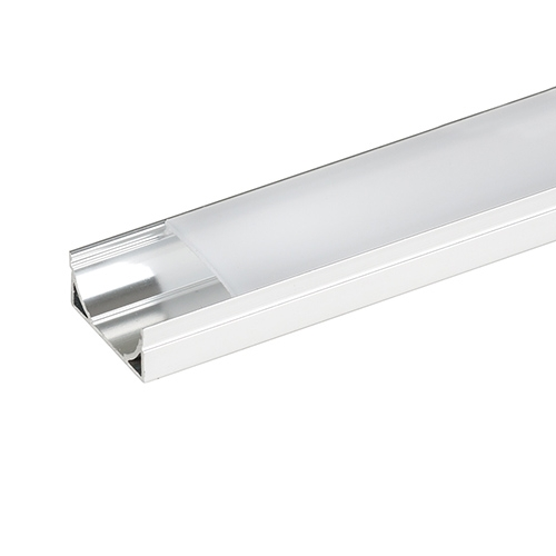Profil de aluminiu pentru benzi flexibile LED, larg, 2 m