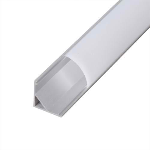 Profil de aluminiu pentru benzi flexibile cu LED-uri, 2m ung
