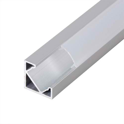 Profil de aluminiu pentru benzi flexibile cu LED, unghiular