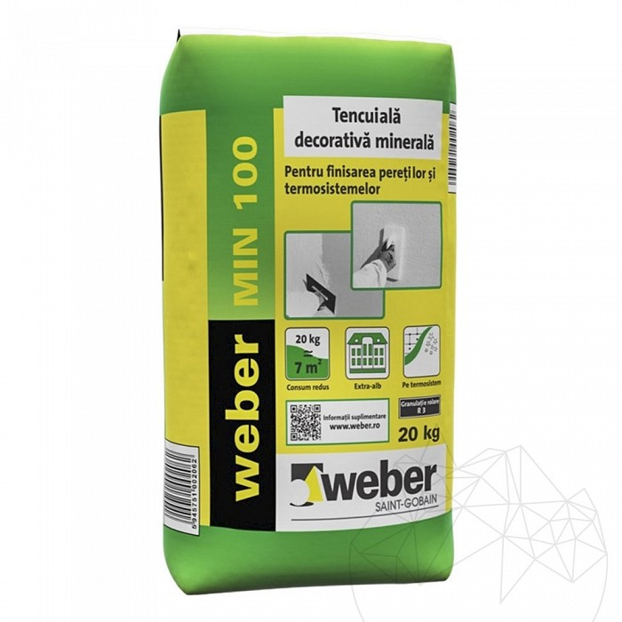 Tencuiala decorativa minerala - Weber MIN 100 -20kg