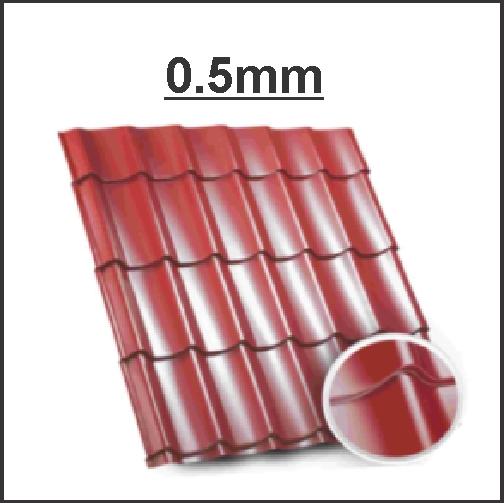 Tigla metalica BILKA CLASIC 0.5 mm Lucios