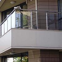 balustrada inox cu sticla