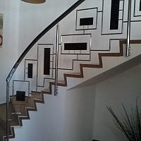 balustrade inox pentru scara
