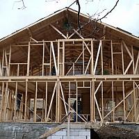 casa structura de lemn