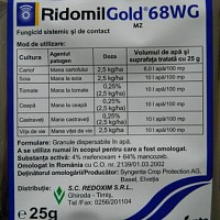 fungicid ridomil gold plus